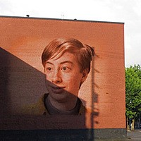 Foto efecto - Bricks Wall Graffiti