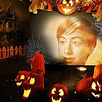 Effet photo - Among Halloween pumpkins