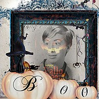 Effet photo - Halloween kitty says boo