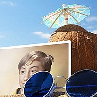 Foto efecto - Coconut and sunglasses