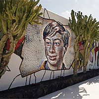 Foto efecto - Mosaic on the wall