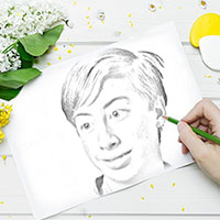 Foto efecto - Drawing among flowers