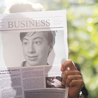 Foto efecto - Article in the business newspaper