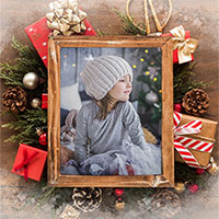 Efekt - Photo frame for Happy Holidays and New Year