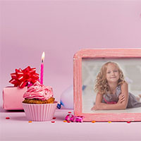 Photo effect - Birthday party photo