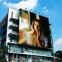 Foto efecto - Advertisement on the building