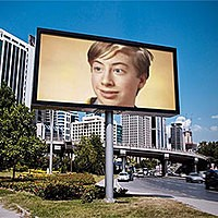 Foto efecto - Billboard against the blue sky