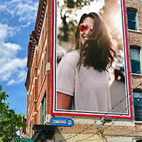 Effet photo - Billboard in front of blue sky