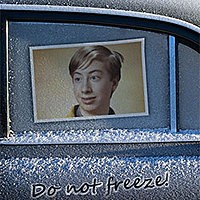 Effet photo - Frozen car window