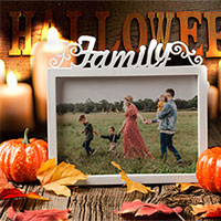 Photo effect - Halloween. Family photo