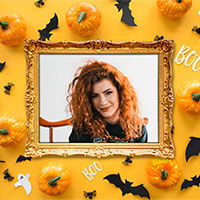 Efeito de foto - Halloween Boo Photo Frame