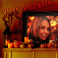 Efeito de foto - Happy Halloween decorations