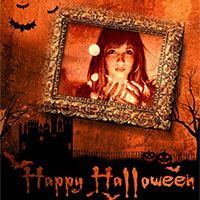 Effect - Happy Halloween photo frame
