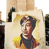Efeito de foto - Huge graffiti on the wall