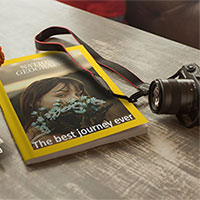Photo effect - On the cover of National Geographic