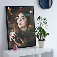 Foto efecto - Photo frame on the white wall