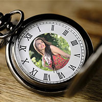 Photo effect - Photo on pocket watch