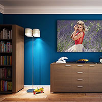 Foto efecto - Picture on the blue wall