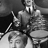 Foto efecto - The Beatles. Ringo Starr on drums