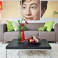 Photo effect - Triptych art in modern interior