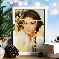 Foto efecto - White Christmas photo frame