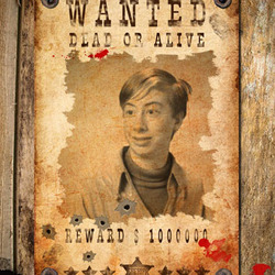 Efeito de foto - Wanted. Dead or Alive