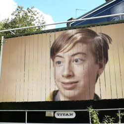 Photo effect - Billboard on the street