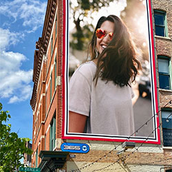 Photo effect - Billboard in front of blue sky