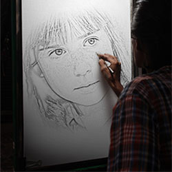 Foto efecto - Drawing in the night