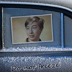 Photo effect - Frozen car window