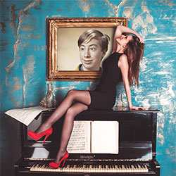Efeito de foto - Lady on the piano