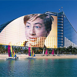 Photo effect - Luxury hotel in Dubai