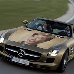 Photo effect - Mercedes-benz cabriolet aerographics