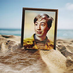 Фотоефект - Photo frame on the beach