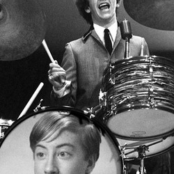 Photo effect - The Beatles. Ringo Starr on drums