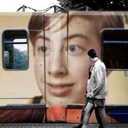 Photo effect - Famous enough for train ads