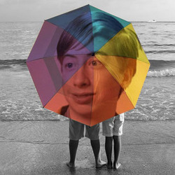 Photo effect - Varicolored umbrella for a couple