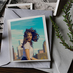 Photo effect - Vintage photo on the table