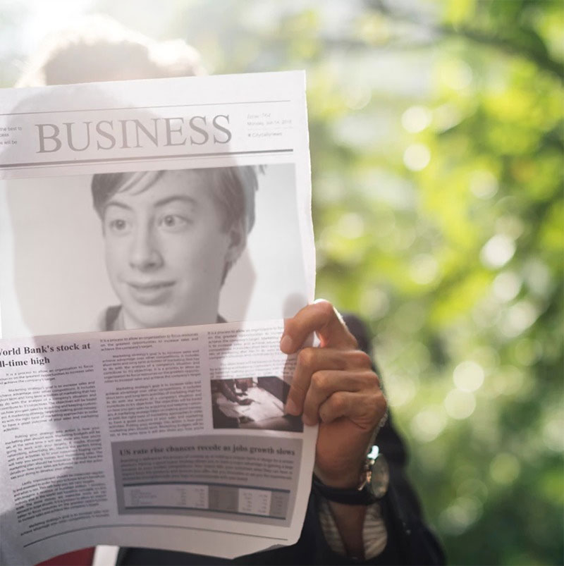 Photo effect - Article in the business newspaper