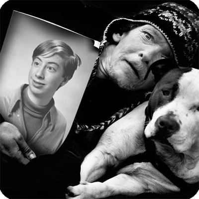 Photo effect - Awesome man with a dog