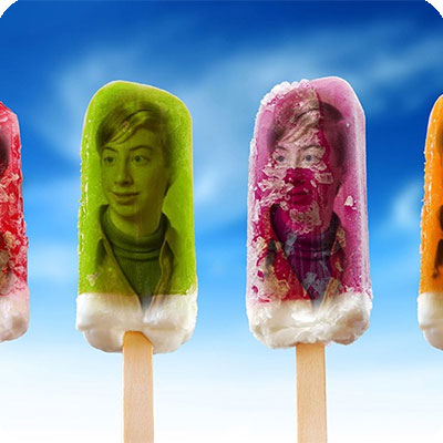 Photo effect - Bright colors of ice cream