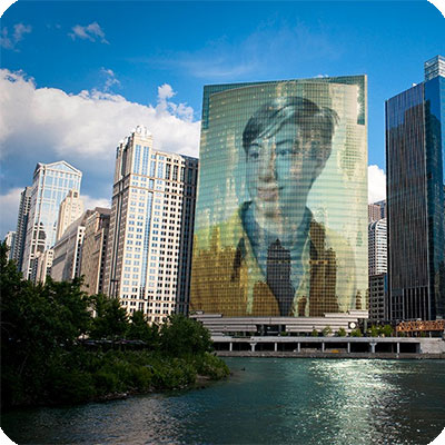 Photo effect - Along Chicago River line