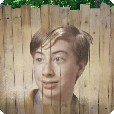 Photo effect - Picture on the fence