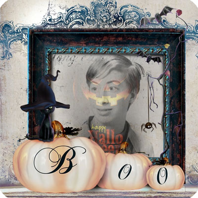 Effet photo - Halloween minou dit boo