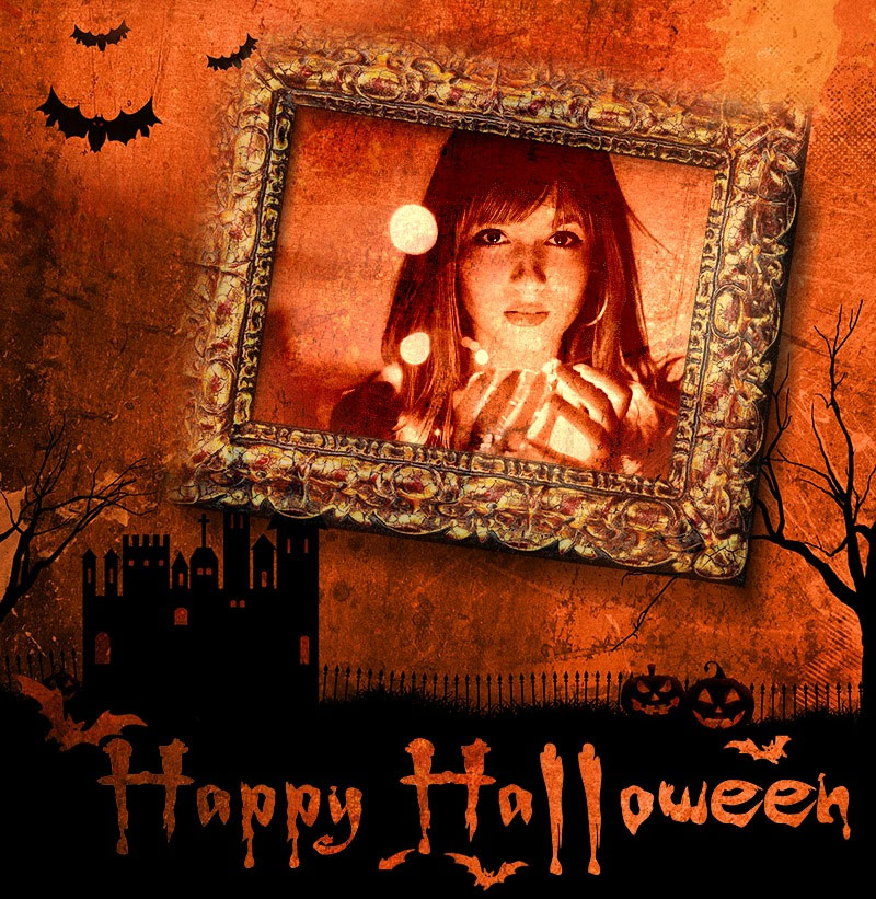 Efekt - Happy Halloween photo frame