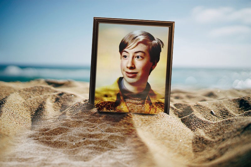 Photo effect - Photo frame on the beach