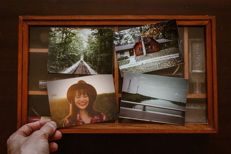 Effet photo - Photo frame with old photos