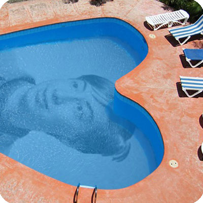 Photo effect - Heart shaped pool