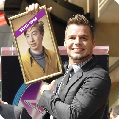 Photo effect - New friend of Ricky Martin