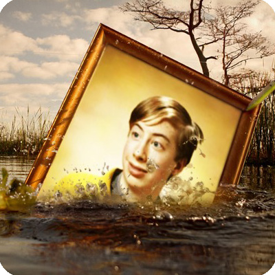 Photo effect - Sprays of the sinking photo frame